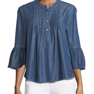 Nanette Lepore Chambray Top